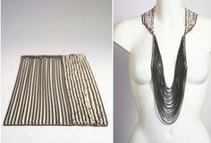necklace silver Melanie Georgacopoulos - collier « rectangle » -- oxidised silver