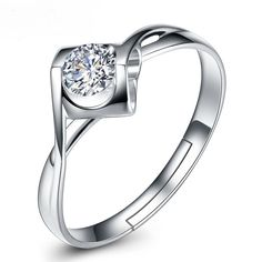 2017 Trendy CZ Luxury Real 925 Sterling Silver Rings for Women Fashion Jewelry Wedding Engagement bijoux anillos