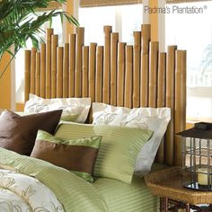 Bamboo headboard for guest bed