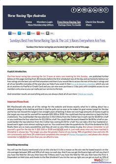 Sundays January 1st Free Horse Racing Tips