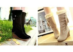 Wholesale Casual Trendy Suede Women's Boots With Tassels and Faux Fur Design (BLACK,38), Boots - Rosewholesale.com