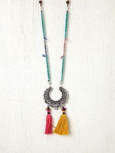 Crescent Tassel Necklace