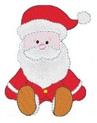 Sitting Santa - 2 Sizes! | Christmas | Machine Embroidery Designs | SWAKembroidery.com Stitch-Ville