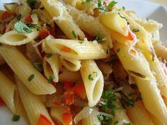 Receta Entrante : Penne rigate con setas y parmesano reggiano para