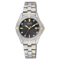 Citizen Ladies Eco-Drive silhouette diamond watch- at Debenhams. Citizen Eco, Debenhams, Chronograph, Rolex Watches, Bracelet Watch, Geek Stuff, Diamond, Citizen Watches, Lady