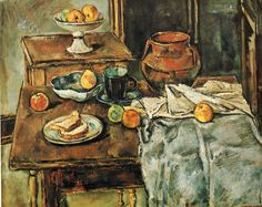 Still Life with Two Tables, 1934, oil on canvas, American, Max Weber