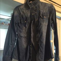Denim shirt Denim shirt, fits medium! Tops Button Down Shirts