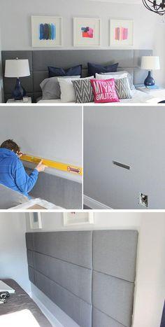How to build a Focal Wall Headboard | Click for 18 DIY Headboard Ideas | DIY Bedroom Decor Ideas on a Budget - indoorlyfe