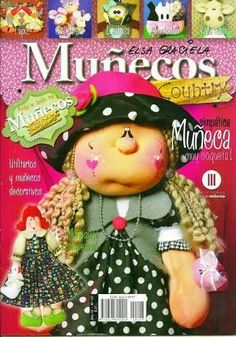 Archivo de álbumes Sewing Magazines, Sewing Toys, Soft Dolls, Soft Sculpture, Doll Face, Origami, Diy And Crafts, Crochet Hats, Teddy Bear