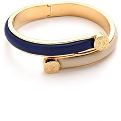 Marc by marc jacobs Engraved Turnlock Leather Bangle Bracelet on shopstyle.com