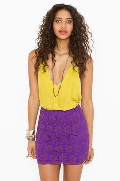 yellow and violet
