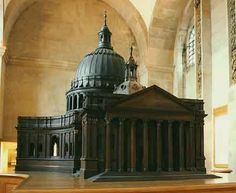 Sir Christopher Wren's architectural model for St Paul's Cathedral, 1673  http://www.explore-stpauls.net/oct03/images/movieimg/WrensCommission08.jpg