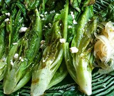 Bon Appétit   January 2011  by Kate and Mike Higgins   Grilled Romaine and Pickeled Onions