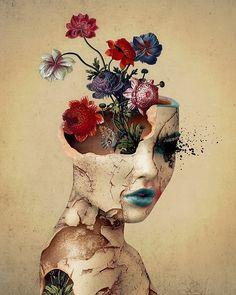 Broken Beauty #woman #art #canvas #homedecor