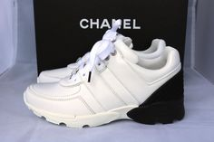 Get the must-have athletic shoes of this season! These Chanel White Black Leather Mesh Tennis Trainers 35 Sneakers Size US 5 Regular (M, B) are a top 10 member favorite on Tradesy. Chanel Sneakers, Chanel Shoes, Leather Sneakers, Adidas Sneakers, Chanel Chanel, Tennis Trainer, Kinds Of Shoes, Chanel Black, Trainers