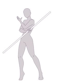 Hello I wanted to practice some poses,so I did another free base based on this reference Sailor Staff Weapon 19 I had so much fun drawing by this reference I encourage you to ch. Drawing Body Poses, Body Reference Drawing, Drawing Reference Poses, Drawing Tips, Body Drawing Tutorial, Sketch Poses, Drawing Templates, Drawing Expressions, Art Inspiration Drawing