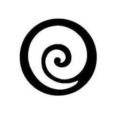 Koru– a Maori design. Represents new life and harmony, as well as growth and peace. The shape is based on the unfurling of a fern frond found in New Zealand.