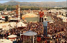 Crowds Enjoy The Carnival Danbury Connecticut