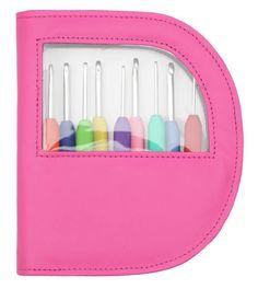 Knit Pro Waves Crochet Hook Set - Pink   Deramores