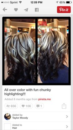 Best Dark Brown Hair with Blonde Highlights 2018 – Page 13 of 13 – The lates… Best Dark Brown Hair with Blonde Highlights 2018 – Page 13 of 13 – The latest and greatest styles ideas – The latest and greatest styles ideas Dark Brown Hair With Blonde Highlights, Hair Highlights, Chunky Highlights, Turquoise Highlights, Non Blondes, Different Hair Colors, Hair Color And Cut, 2 Tone Hair Color, Gorgeous Hair