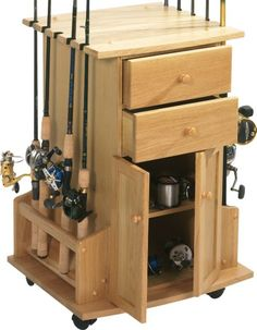 Inspiring Fishing Rod Storage Cabinet