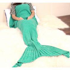 Couverture populaire sirène tricotée à la main - bestyle29.com