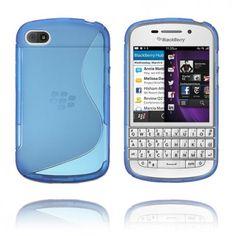 S-line (Blå) BlackBerry Deksel Blackberry Q10, Sorting, Line, Smartphone, Cover, Fishing Line