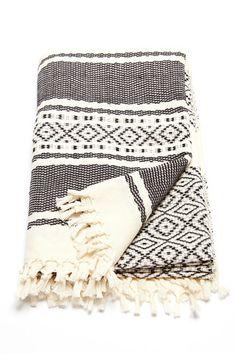 Ixchel Beach Blanket by Wax + Cruz. Handwoven by master-artisans in Mexico.