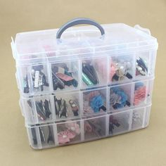 [Visit to Buy] 30 Grids Clear Plastic Storage Box For Toys Rings Jewelry Display Organizer Makeup Case Craft Holder Container porta joias Storage Buckets, Kid Toy Storage, Cheap Storage, Plastic Box Storage, Storage Boxes, Bag Storage, Plastic Containers, Jewellery Storage, Jewellery Display