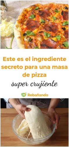The secret to a crunchy pizza dough? Easy Smoothie Recipes, Healthy Recipes, Healthy Food, Quiches, Pizza Recipes, Cooking Recipes, Mediterranean Pizza, Tortilla Pizza, Artisan Pizza