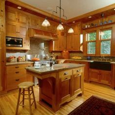 in a new kitchen by david heide design studio for a 1904 foursquare house fully