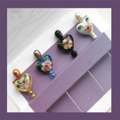 Decorative Quilt Pins  Cloisonne Stick Pins  by PincushionCrazy
