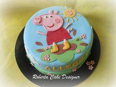 Facciamo festa : PEPPA PIG PARTY TIME! Tortas Peppa Pig, Bolo Da Peppa Pig, Peppa Pig Birthday Cake, 3rd Birthday, Birthday Ideas, Fondant Cakes, Cupcake Cakes, Cupcakes, Cake Shapes