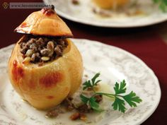 quince stuffed with duck Onion, Pudding, Yummy Food, Vegetables, Desserts, Tailgate Desserts, Deserts, Delicious Food, Onions