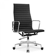 Eames Bürostuhl ea 119 eames bürostuhl hoher office chair mit geripptem leder