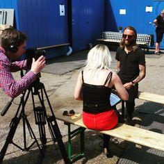 Interviewing Johan Wohlert from Mew at Ruisrock 2015. - https://instagram.com/p/46Q2szv_gF/?taken-by=paijuhjelm