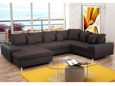 Grand canapé d angle original en cuir HOPE LARGE