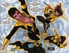 Sinestro Corps Members Soranik Natu,  Lyssa Drak, Bekka, & Rigen in Sinestro # 16 - Art by Brad Walker, Ethan Van Sciver, Drew Hennessy, & Jason Wright