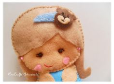 felt doll gorgeous brooch