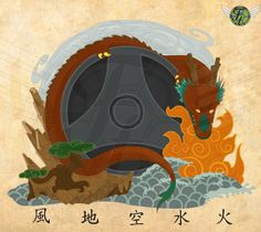 Garyu to Gogyo , The Reclining Dragon and 5 Elements by Hardus Jonker, via Behance