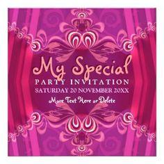 Pretty Party Invitations