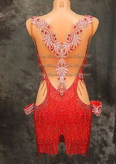 Sexty-Women-Ballroom-Rhythm-Salsa-Rumba-Latin-Competition-Dance-Dress-US-6-UK-8