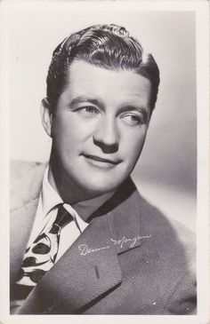 Vintage Actors | 1940s Vintage Postcard of actor Dennis Morgan- undivided back, real ...