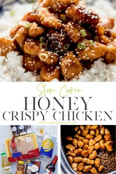 When you love takeout but not the cost or questionable ingredients, then it's time to make your own even more delicious version at home! Slow Cooker Honey Crispy Chicken is easier than you think and so amazing! #slowcookerchicken #chinesefood #takeout Quick Chicken Curry, Healthy Baked Chicken, Crispy Chicken, Slow Cooker Chicken, Best Slow Cooker, Slow Cooker Recipes, Gourmet Recipes, Crockpot Recipes, Recipe Using Chicken