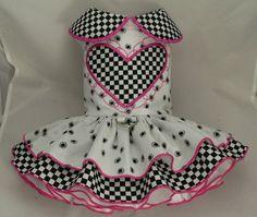 Small dog harness dress. Tutu 5 layer skirt. Floral. by poshdog