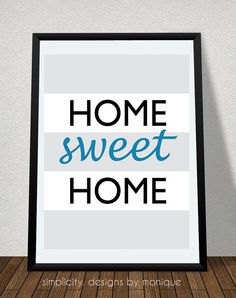 Home Sweet Home 8x10 Digital Print by SimplicitybyMonique on Etsy, $1.25