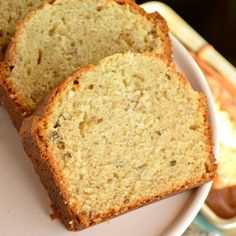 Cream Cheese Banana Bread that is fluffy and moist, more like a banana cake. The cream cheese lends a richness and it's hard to put down!