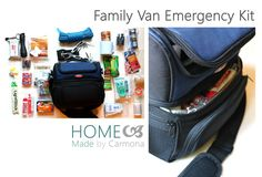 Family Van Emergency Kit - Home Made By Carmona Emergency Preparedness Kit, Emergency Preparation, Survival Kits, Emergency Planning, Family Emergency, In Case Of Emergency, Disposable Gloves, Outdoor Store, Survival