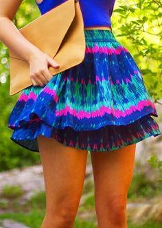 Colorful skater SKIRT, perfect for summer