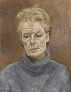 Lucian Freud 1922 - 2011 PORTRAIT OF A WOMAN charcoal and pastel on paper mounted on canvas 24 by 18 in. Lucian Freud Portraits, Lucian Freud Paintings, Francis Bacon, Female Portrait, Portrait Art, Jenny Saville, Antoine Bourdelle, Jackson Pollock, Famous Artists